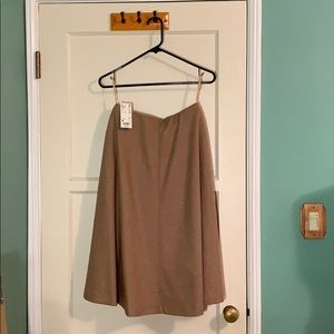 NWT Uniqlo Wool Blended Flared High-Waisted Skirt